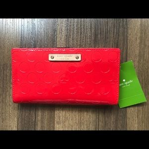 NWT Kate Spade Stacy Yaletown Red Wallet